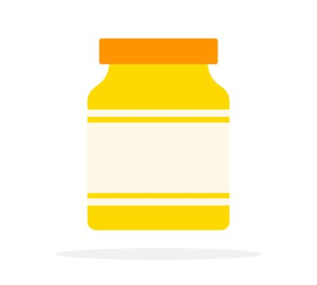 Mustard twisted jar vector flat isolated Фото со стока - 137233382