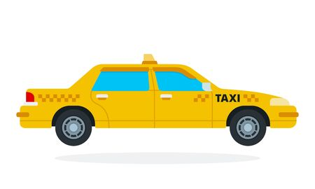 Yellow taxi vector flat isolated