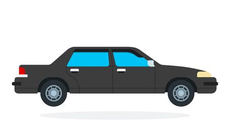 Luxury black car vector flat isolated Ilustração