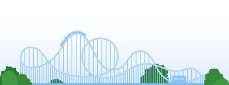 Roller coaster vector icon flat isolated Vectores