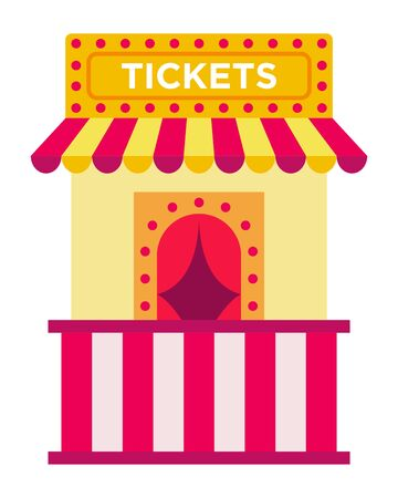 Ticket booth vector icon flat isolated