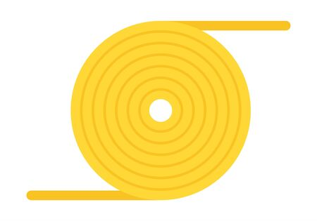 Yellow rope skein Boat Safety Kit vector icon flat isolated.