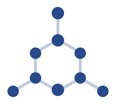 Chemical compound model vector icon flat isolated Çizim