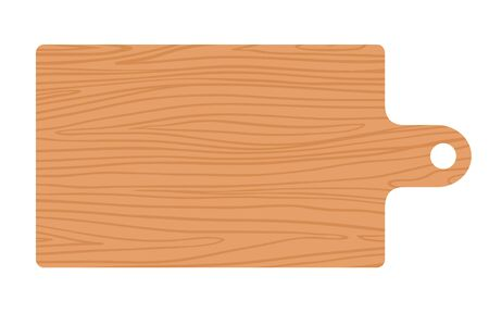 Kitchen wooden board vector flat isolated 矢量图像