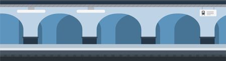 Underground metro station with arches and columns vector icon flat isolated illustration Illustration
