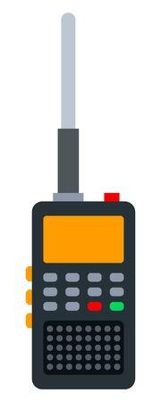 Police walkie-talkie vector icon flat