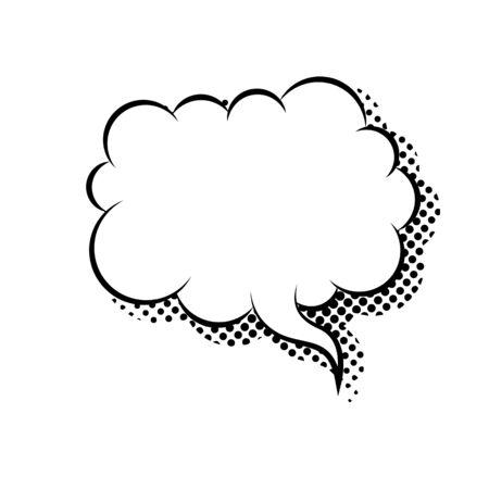 Empty cloud speech bubble flat icon vector isolated. Ilustración de vector