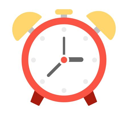 Alarm clock with bells vector icon flat isolated 向量圖像