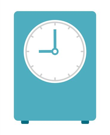 Green bedside alarm clock vector icon flat isolated 向量圖像
