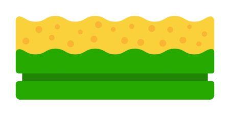 Dishwashing sponge vector icon flat isolated Vecteurs