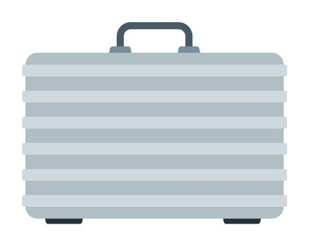 Suitcase for carrying, storing a quadcopter flat icon vector isolated. Vettoriali