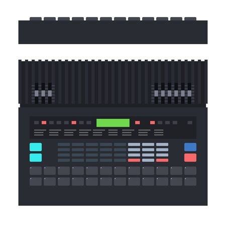 Drum machine is electronic musical instrument Musician vector icon flat isolated illustration.