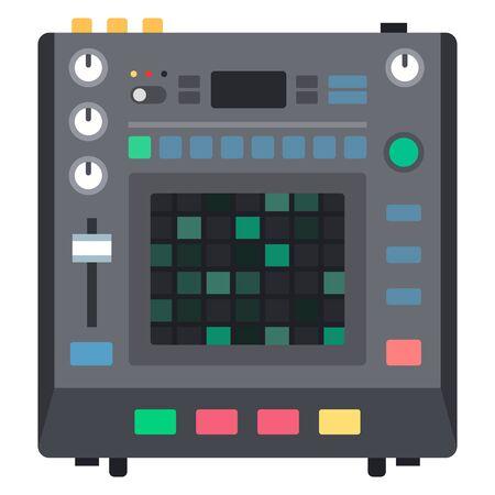 Tool to create music drum machine Musician flat icon vector isolated. Çizim