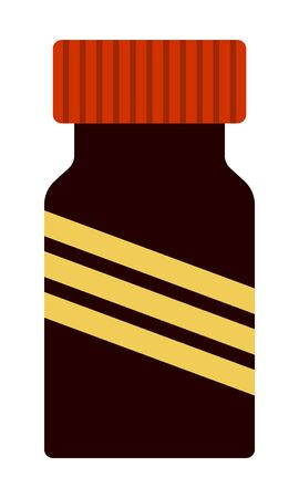 Medical jar with dangerous poisonous substance Medicaments Poison vector icon flat isolated