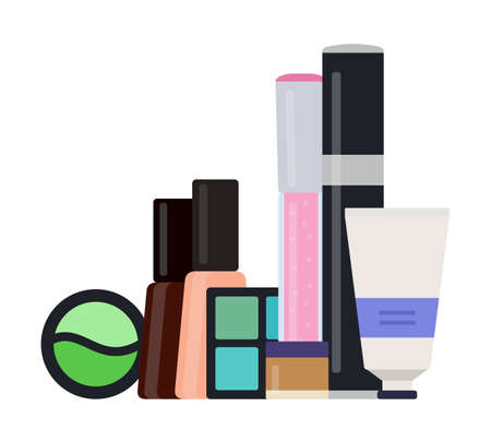 Makeup kit vector icon flat isolated illustration