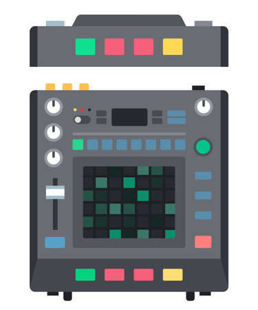 Drum machine instrument for creating music Musician vector icon flat isolated illustration.