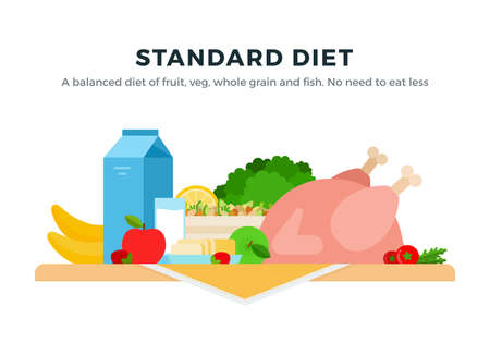 Standard Diet vector flat isolated vector flat isolated