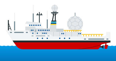 Reconnaissance ship for radio intelligence and electronic warfare vector