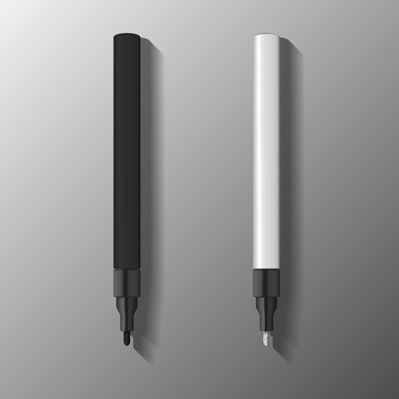 colors paint: paint marker pen illustration. template of marker pen in black and white colors. vector illustration.