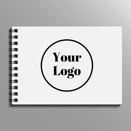 spiral notebook: empty blank of spiral notebook. notebook template, mockup. Vector illustration