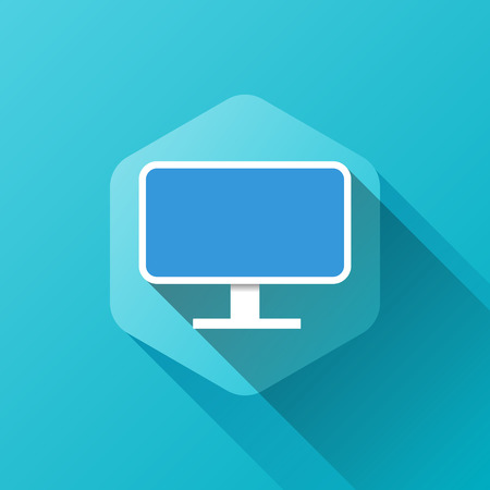 flat screen: simple illustration of screen icon in flat style Illustration