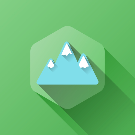 soft peak: simple illustration of mountains icon in flat style