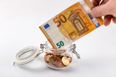 Put money in a Glass for the pension.