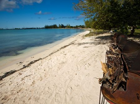 indies: Beachside barbecues and turquoise waters on tropical island