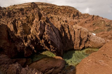 indies: Volcanic tidepools on tropical island