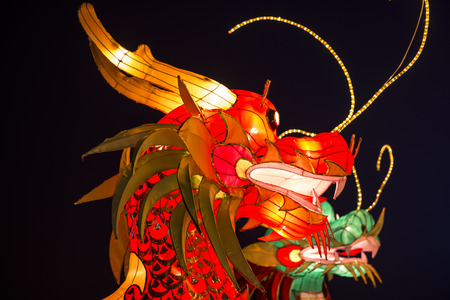 colorful lantern: Close up view of colorful Lantern Festival at night.