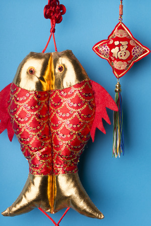 luckiness: Chinese new years decoration for Spring festival Stock Photo