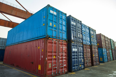 Container at freight terminal