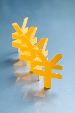 Renminbi paper cutting symbol Stock Photo