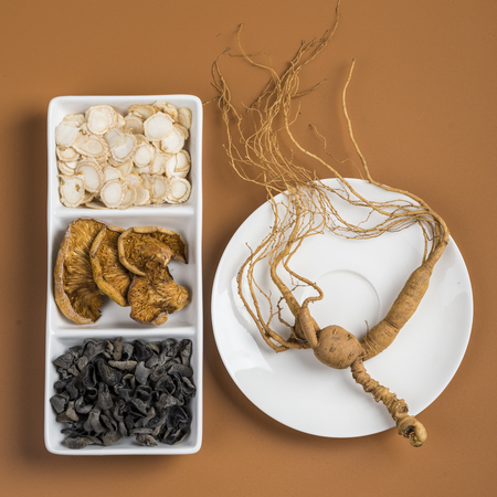 collocation: Top view of various type for health nourishing products