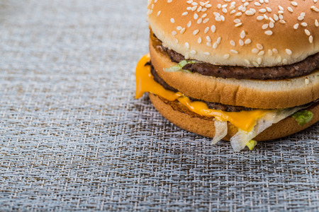 necessities: Hamburger close up view Stock Photo