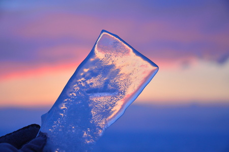 Close up view of a ice cube Stock Photo
