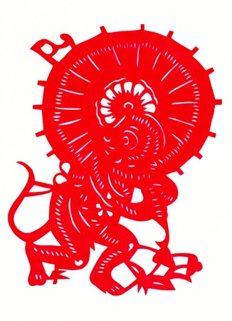 non: Chinese twelve zodiac paper-cut Stock Photo