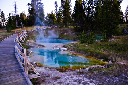 Sapphire geothermal spring Stock Photo