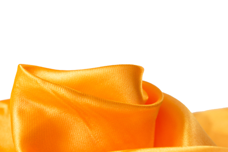 Orange silk satin background Stock Photo