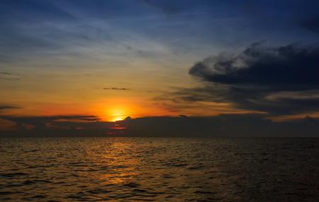 The Tonle Sap Lake sunset Stock Photo