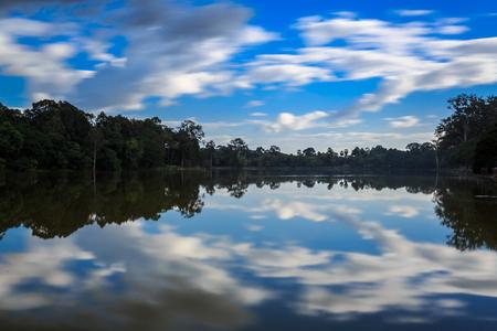 lakeview at  Angkor Wat Stock Photo