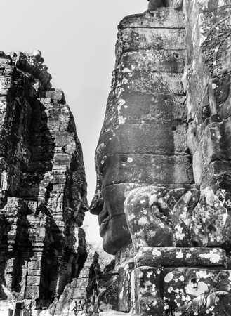 The stone statue of Bayon