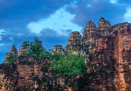 The ancient ruins of Bakheng Stock Photo