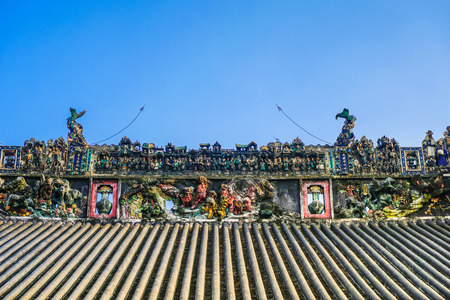 Roof sculpture art of Chen Clan Academy in Guangzhou