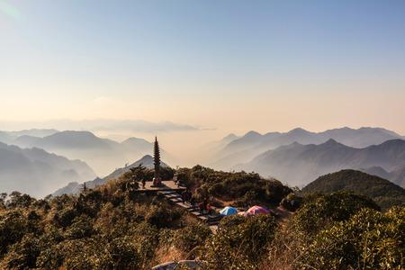 Hunan Mangshan Tiantai Mountain landscape view