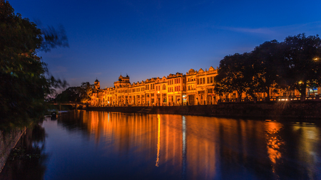 Guangdong Kaiping Ancient Town night view