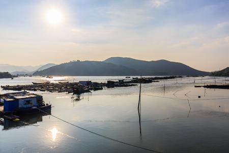 Huidong Salt Island fishing village Stock Photo