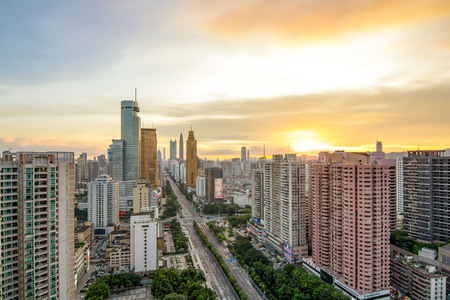 Skyline of Shenzhen Editorial