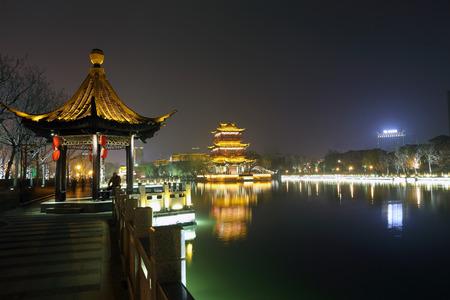 Qingjiang Pu Lou Stock Photo