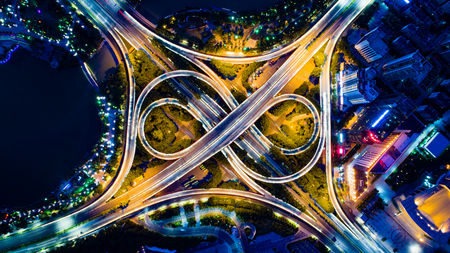 Min Zu Da Dao, Zhuxi interchange aerial photography